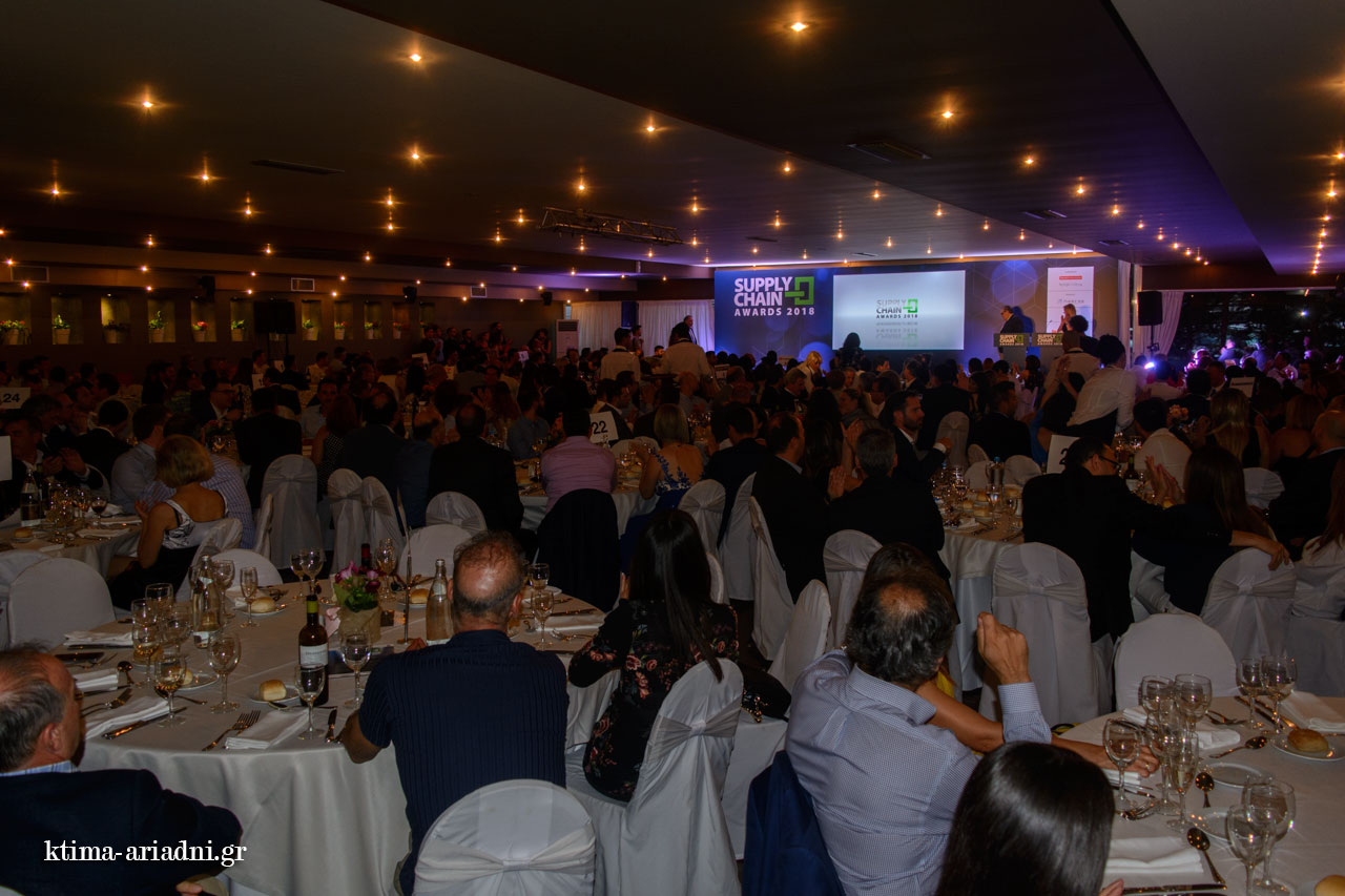 Γενική άποψη του χώρου όπου φιλοξενήθηκαν τα supply chain awards ktima ariadni