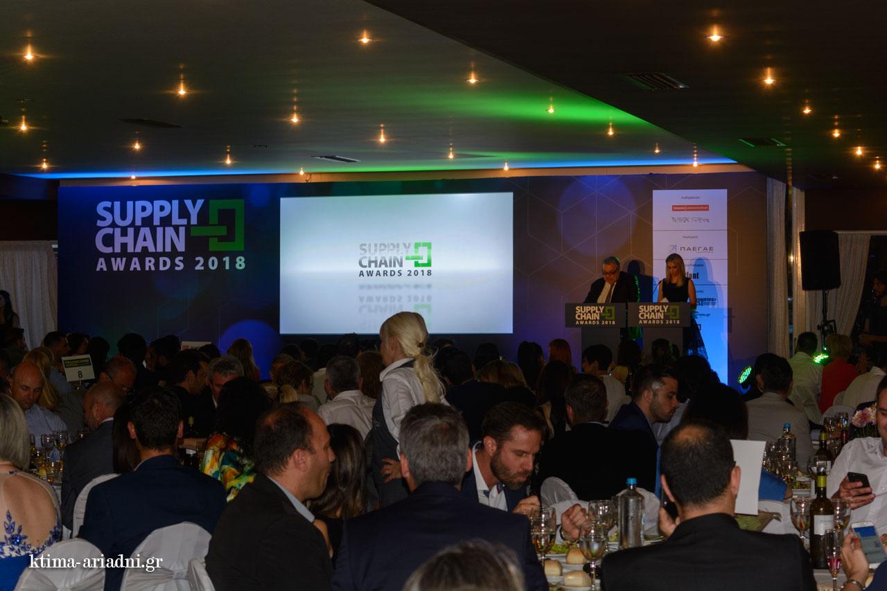 Το προσωπικό της Inspire Events και του Κτήματος Αριάδνη τη βραδιά των supply chain awards
