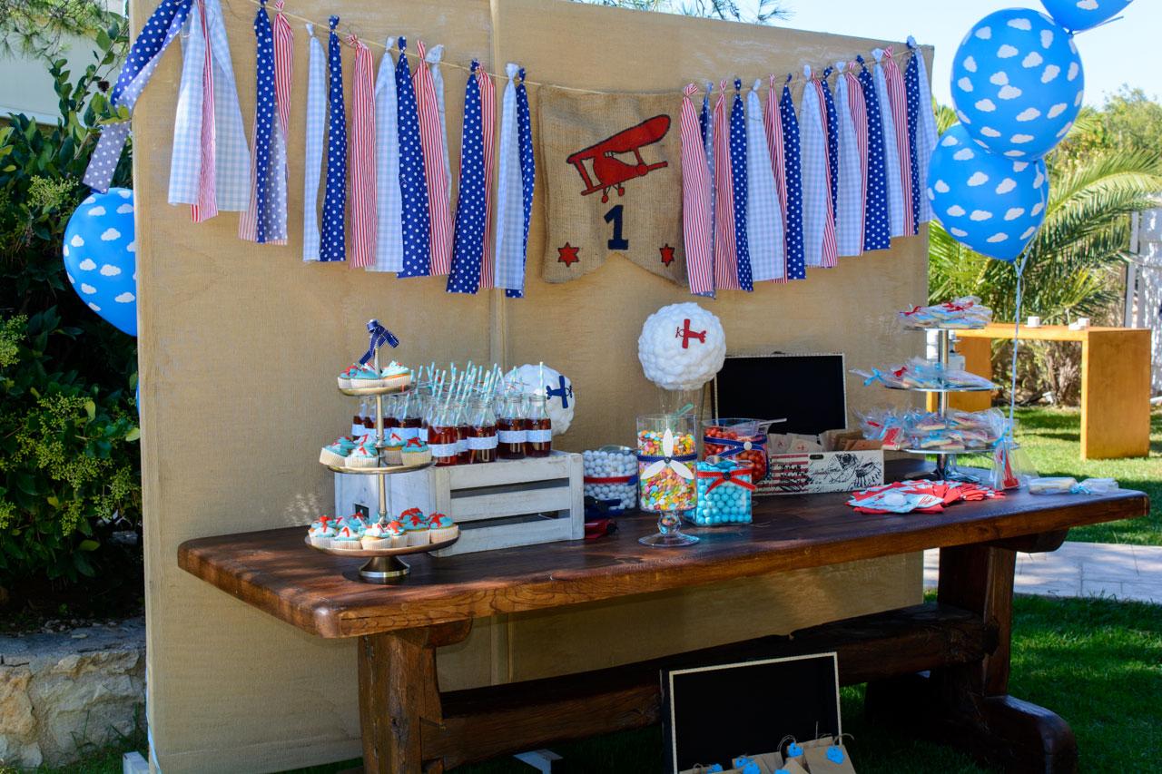thematika party aeroporos aeroplana candy bar