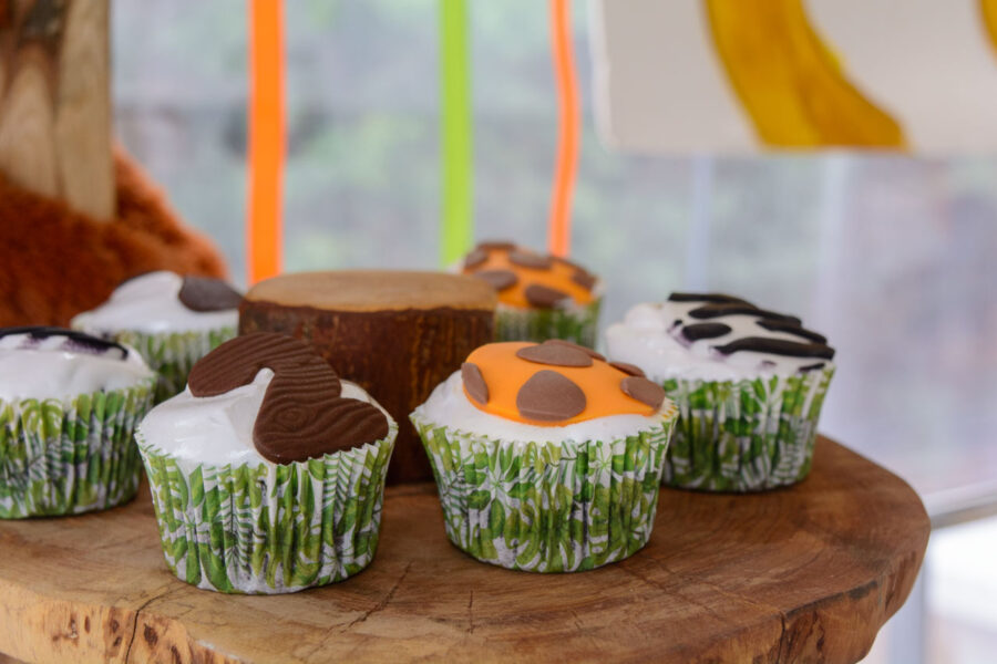 thematiko paidiko party safari candy bar cup cakes